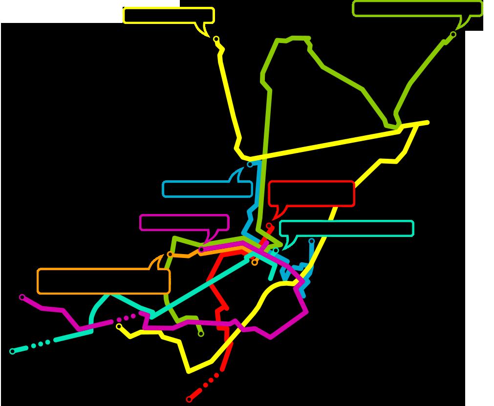 Karte Routenübersicht