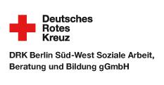 Logo DRK Berlin Süd-West Soziale Arbeit, Beratung und Bildung gGmbH - hier klicken, um die Website in einem neuen Fenster zu öffnen