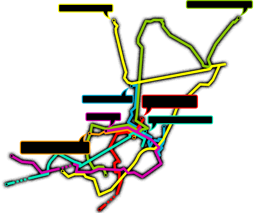 Map overview of the routes