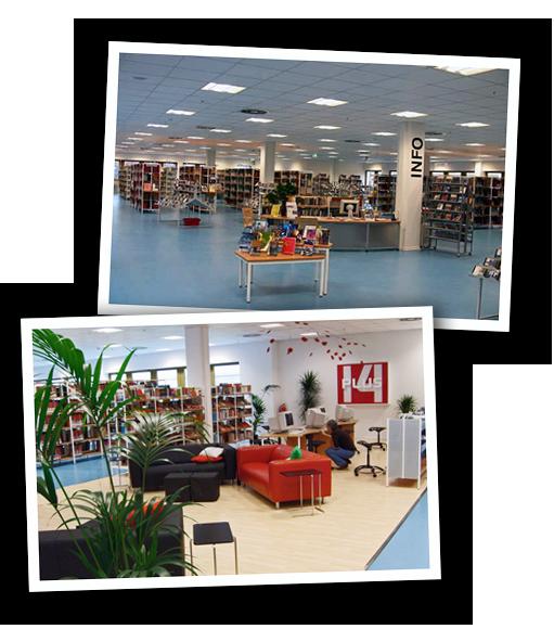 Bildercollage Ingeborg-Drewitz-Bibliothek
