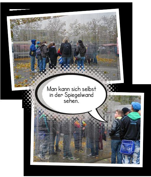 Bildercollage Spiegelwand Hermann-Ehlers-Platz