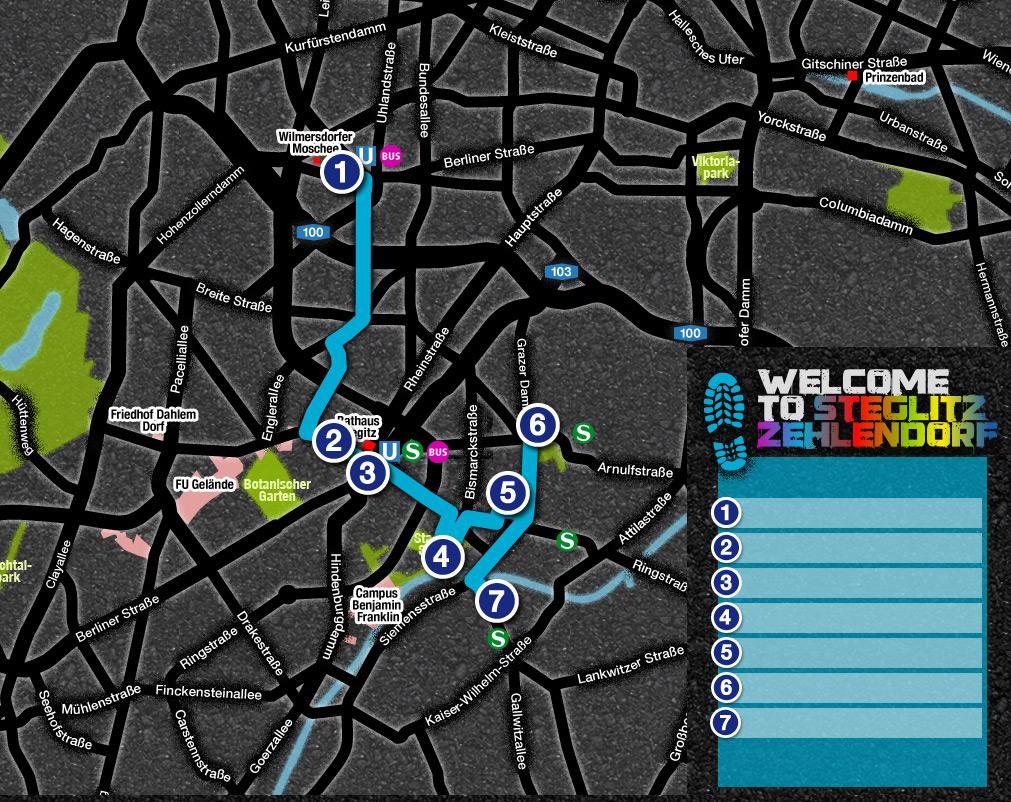 Carte de la rute Lieux préférés