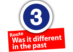 """Route """"Was it different in the past"""", No. 3"""