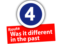 """Route """"Was it different in the past"""", No. 4"""