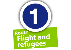 """Route """"Flight and refugees"""", No. 1"""