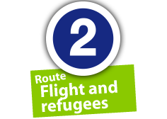 """Route """"Flight and refugees"""", No. 2"""