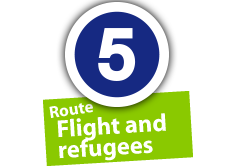 """Route """"Flight and refugees"""", No. 5"""