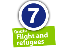 """Route """"Flight and refugees"""", No. 7"""