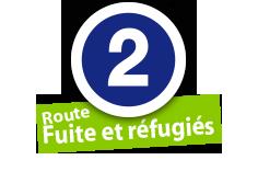 """Route """"Fuit et réfugiés"""", No. 2"""