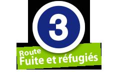 """Route """"Fuit et réfugiés"""", No. 3"""