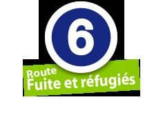 """Route """"Fuit et réfugiés"""", No. 6"""