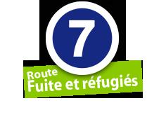 """Route """"Fuit et réfugiés"""", No. 7"""