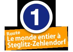 """Route """"Le monde entier à Steglitz-Zehlendorf"""", No. 1"""